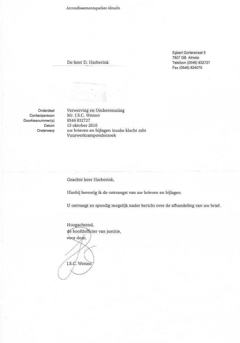 voorbeeld ontvangstbevestiging brief Voorbeeld Ontvangstbevestiging Brief | gantinova