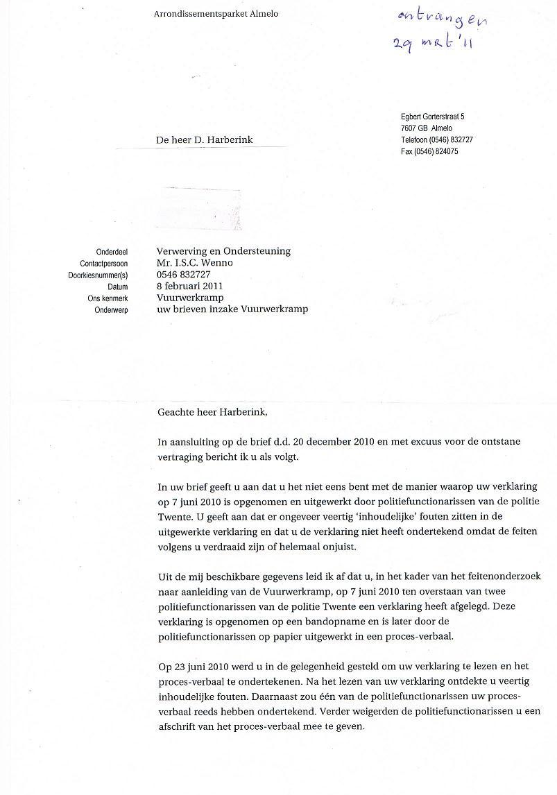 voorbeeld verklaring brief Voorbeeld Verklaring Brief | gantinova