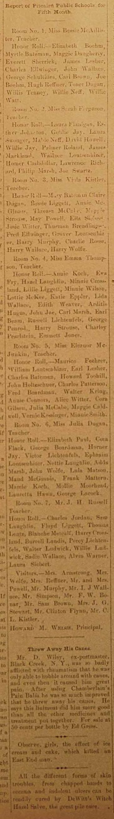Class Honor Roll 1897