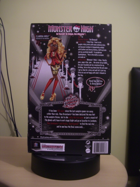 Monster High Frights, Camera, Action! Hauntlywood Clawdia Wolf
