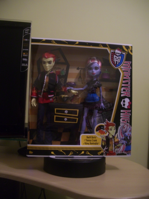 Monster High Classroom Doll 2-Pack Home Ick Heath Burns & Abbey Bominable