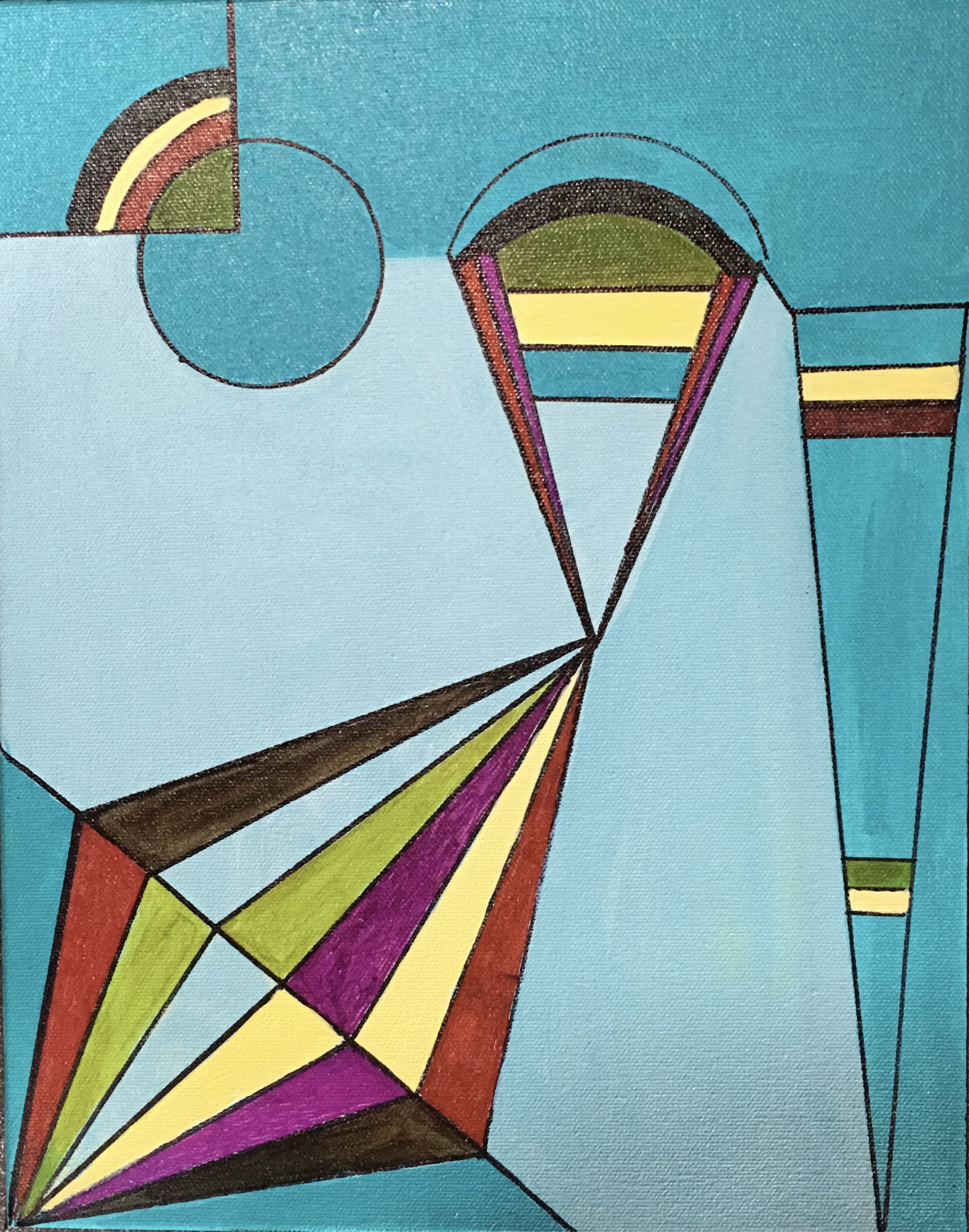 """Lines and Curves 11"""" x 14"""""""