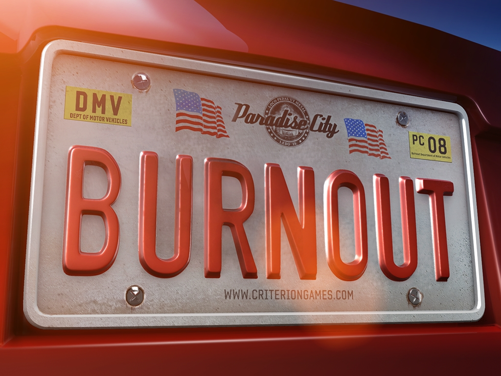Burnout numberplate