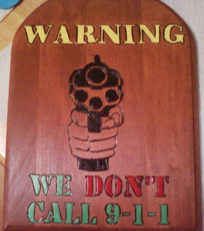 WARNING WE DON'T CALL 9-1-1