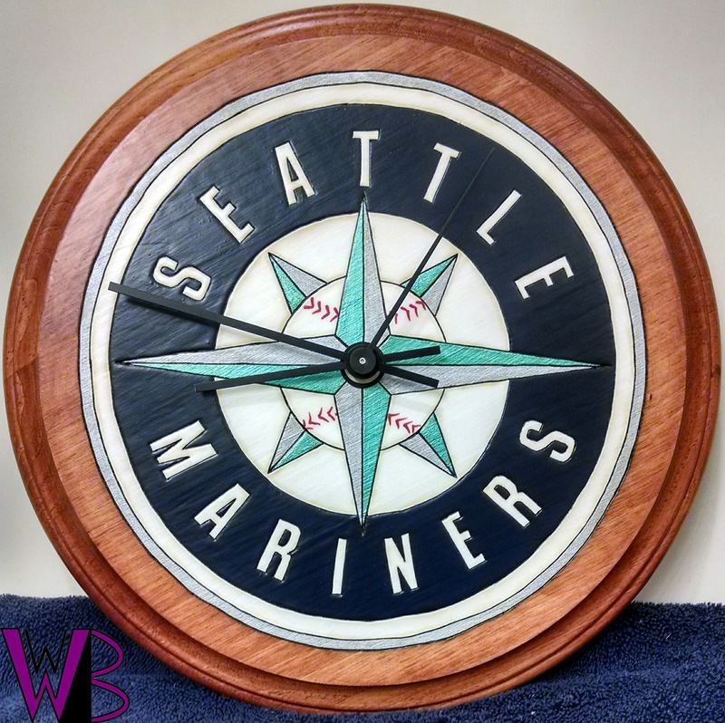 SPORTS TEAM: SEATTLE MARINERS CLOCK