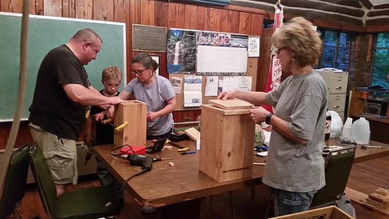 Building birdhouses