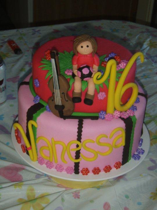 Sporty 16th Birthday cake