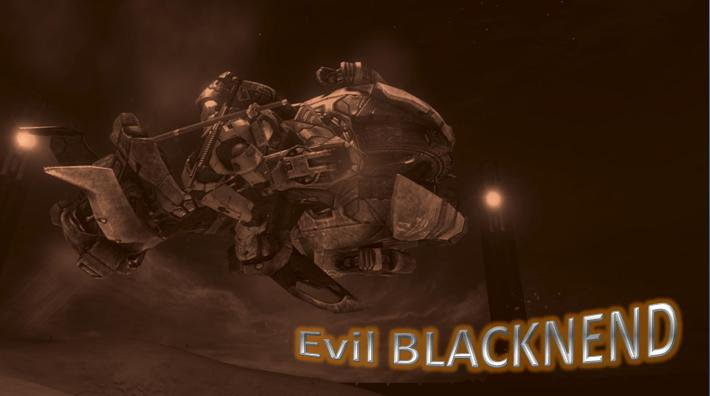 Evil BLACKNEND and the Chopper of Death