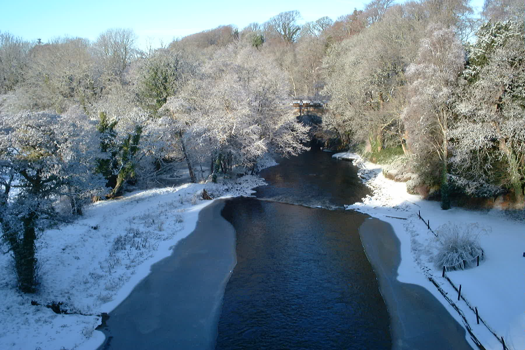 From New Brig O' Doon, Ayr, Jan 5th 2010 Looking downstream byReg Tait