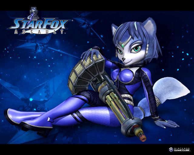 star fox wallpaper. Krystal WallPaper - Star Fox