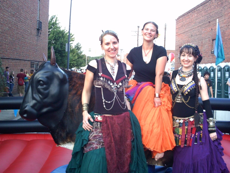 bellydancers and the bull