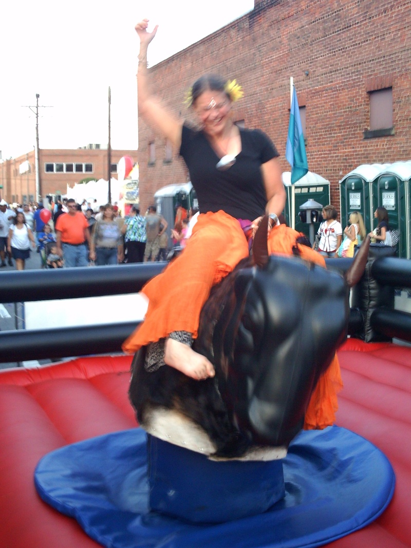 Danielle just had to ride it!