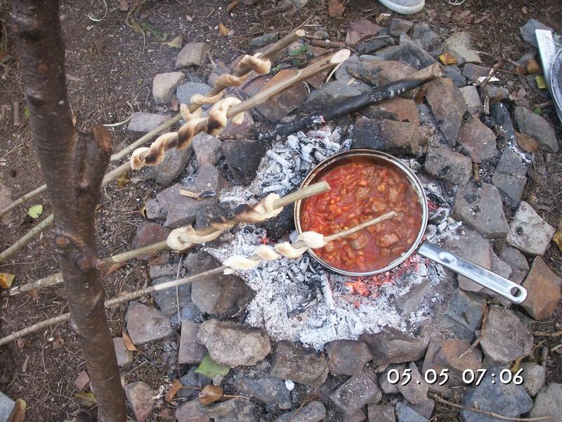 Bannock Bread and Lamb Spicy Bean Caserole