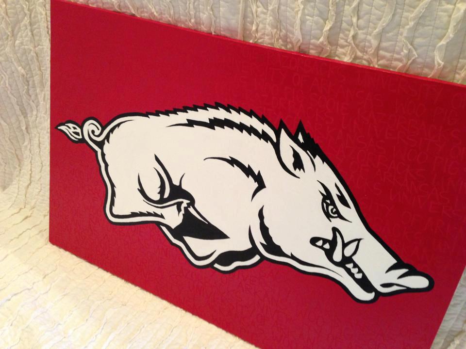 "Razorback - ""University of Arkansas Woo Pig Sooie Razorbacks"""