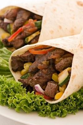 Carne Asada Burritos with Veggies!