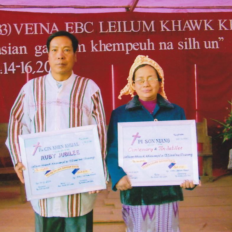 Pa Cin Khan Khual tenupa, Pi Son Niang kum100 cin pawi ah.