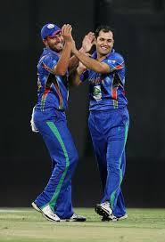 afghan 2 star m nabi mirwais ashraf geeting a wicket