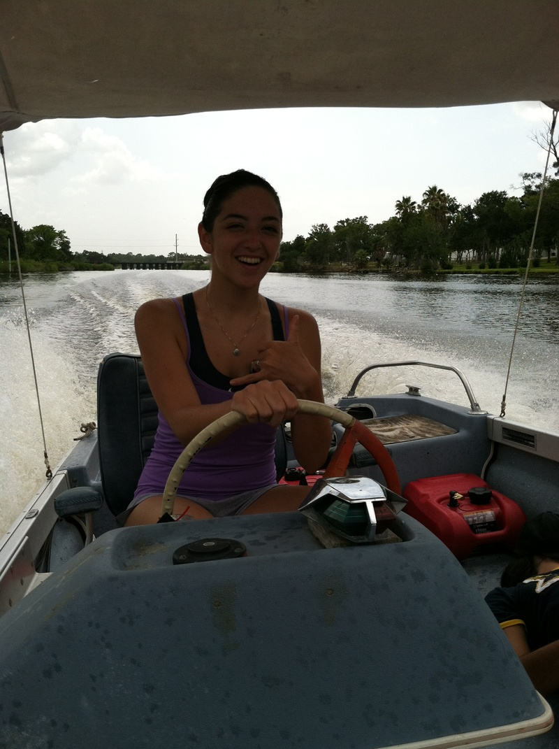 My daughter Caitlin on the bayou