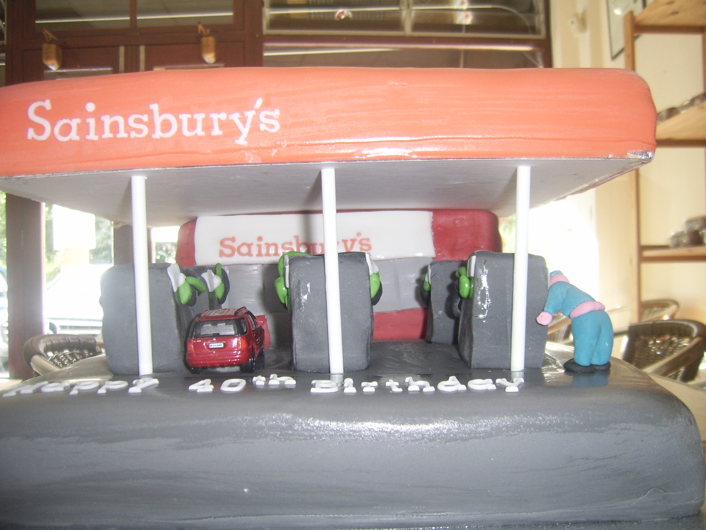 Sainsburys petrol station cake