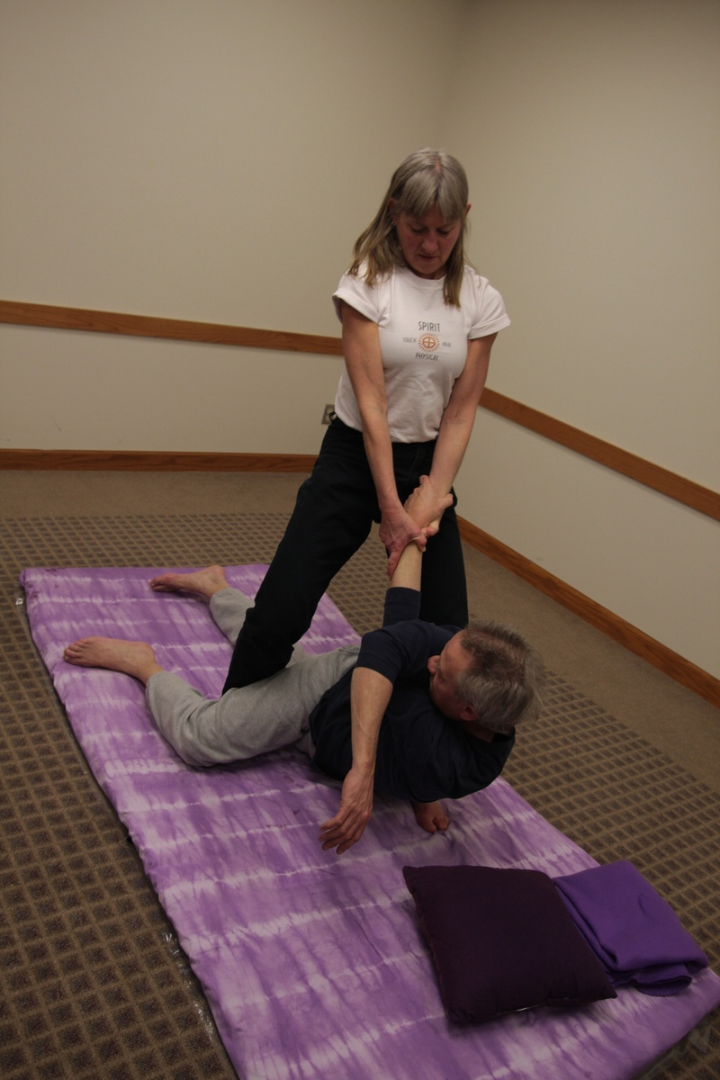 Pulling Arm Spinal  Twist Lift