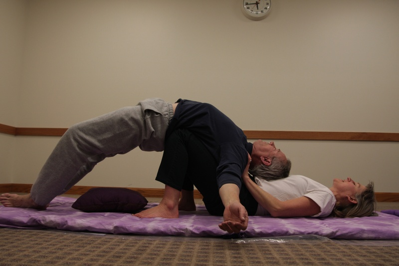 Assisted  Bridge Pose