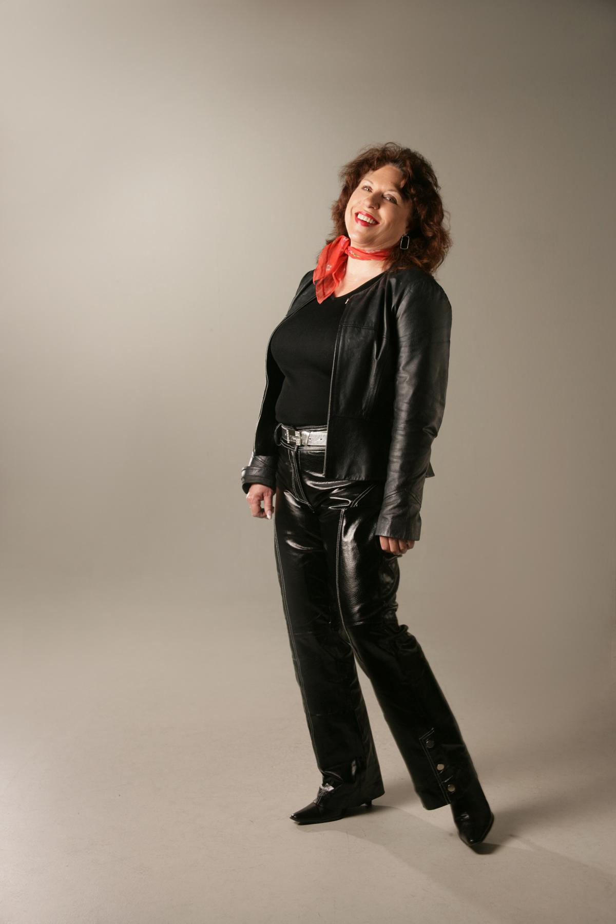 Love Those Black Patent Leather Jeans