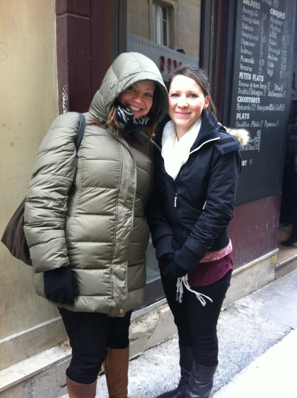Catherine & Caroline - wrapped up against the cold!