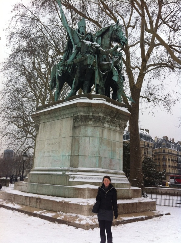 Statue of Charlemagne (outside the Notre-Dame)