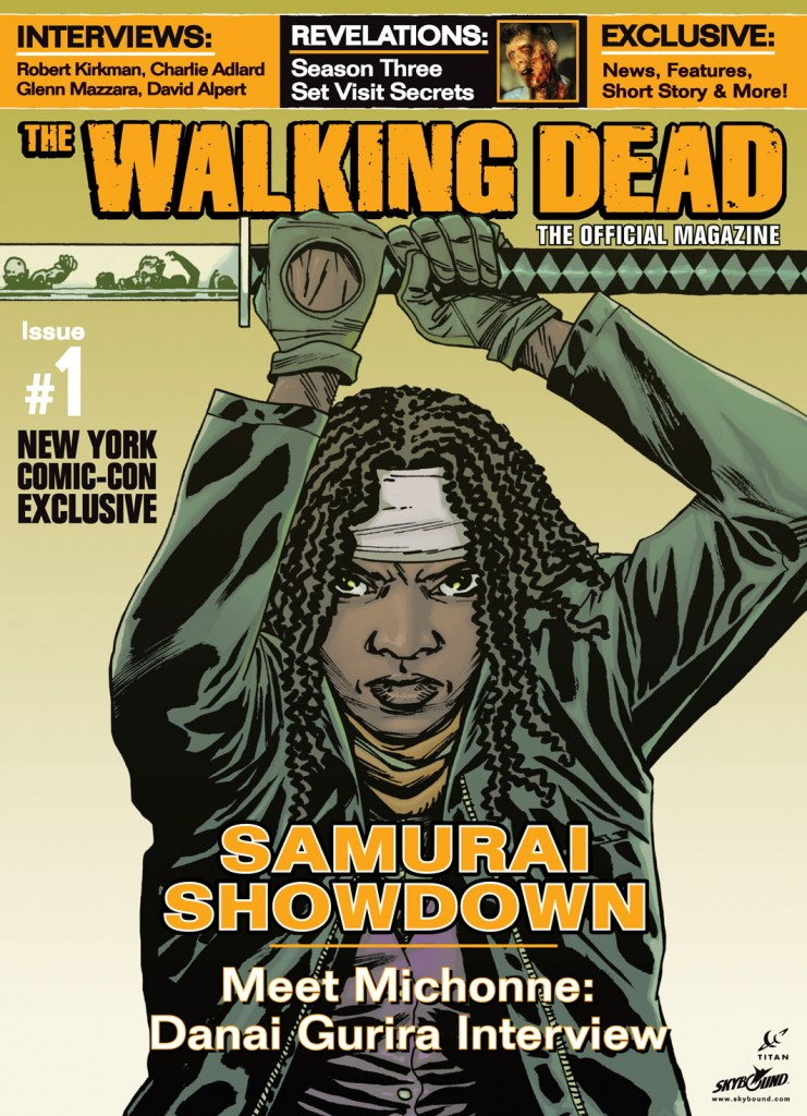 The Walking Dead Magazine # 1 Michonne variant