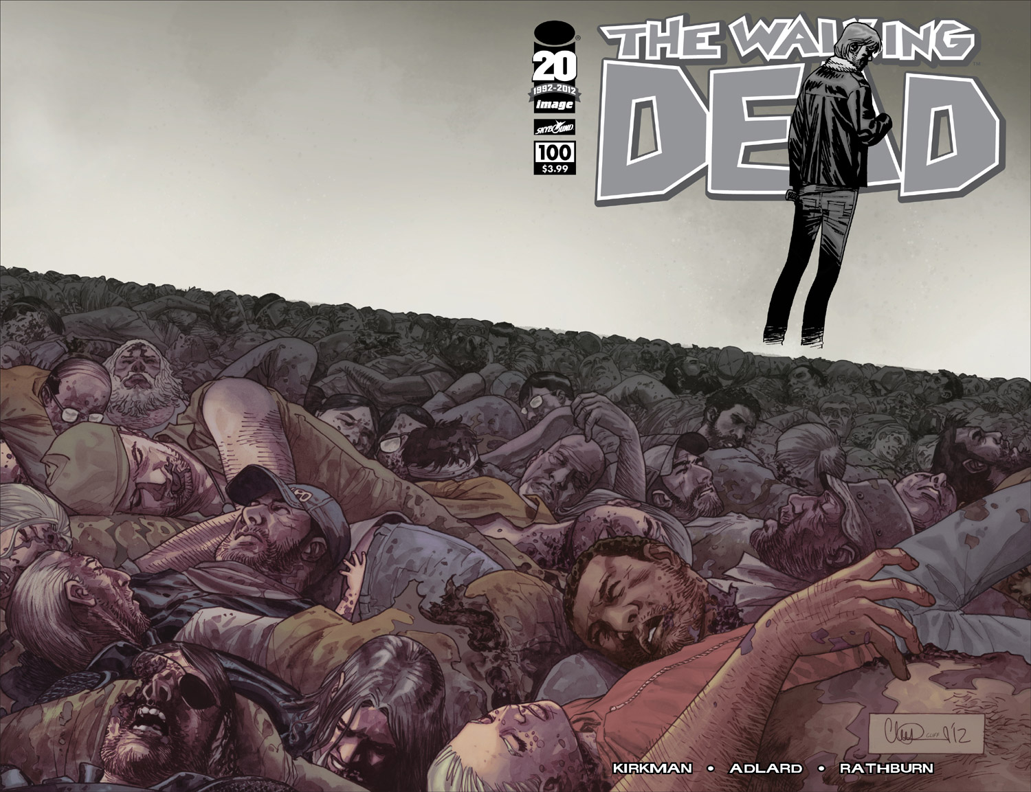 The Walking Dead # 100 1 - 10 chrome