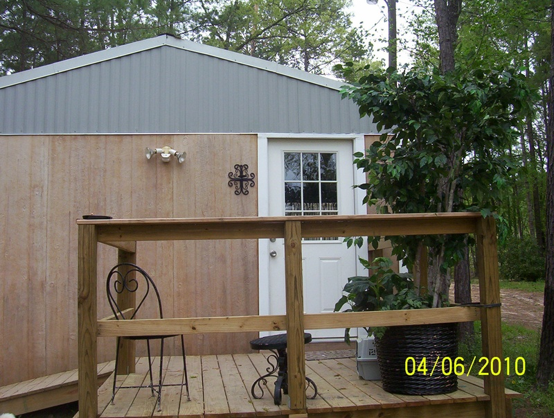 front of cabin before we put sign up