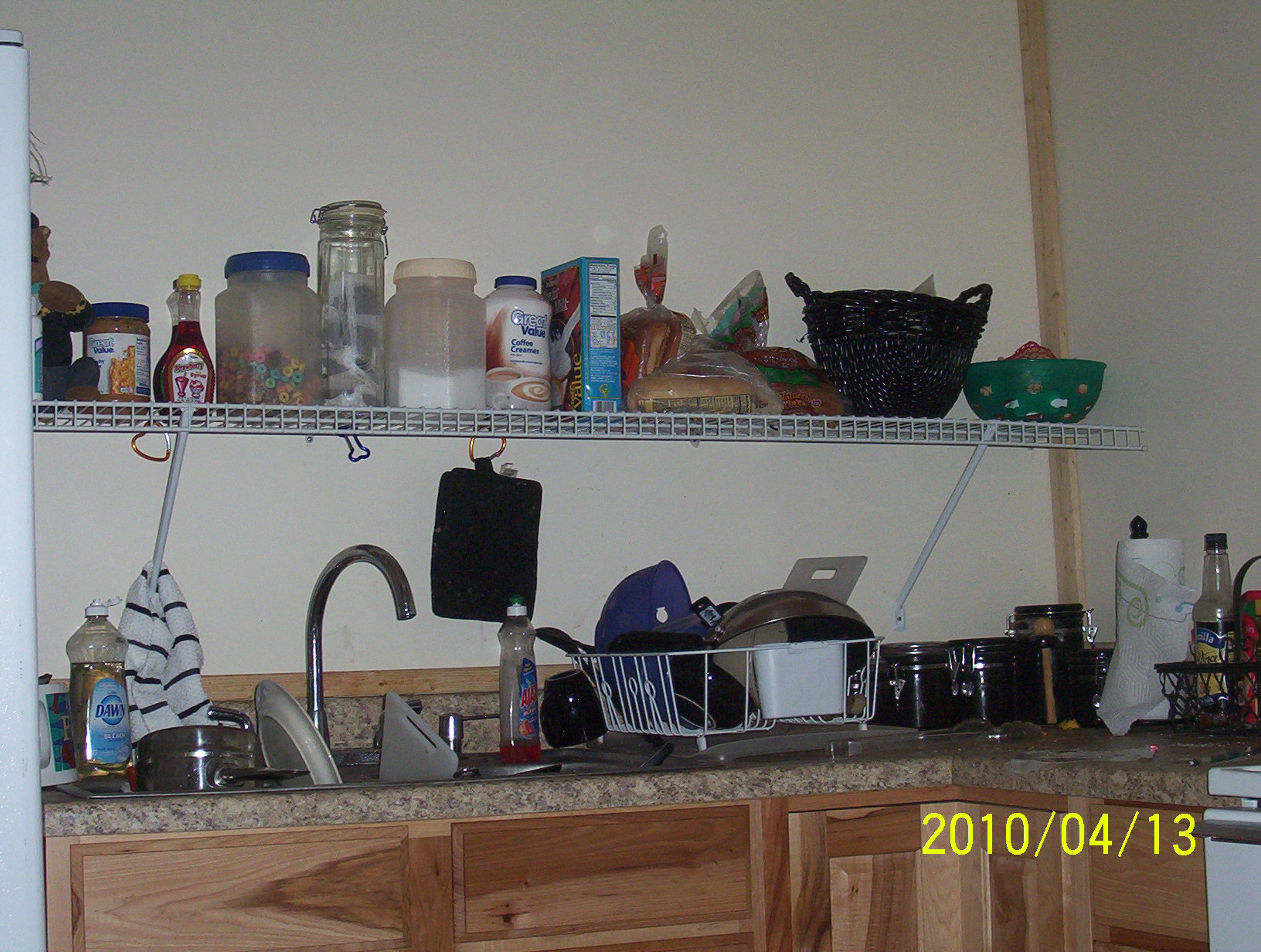 one kitchen shelf