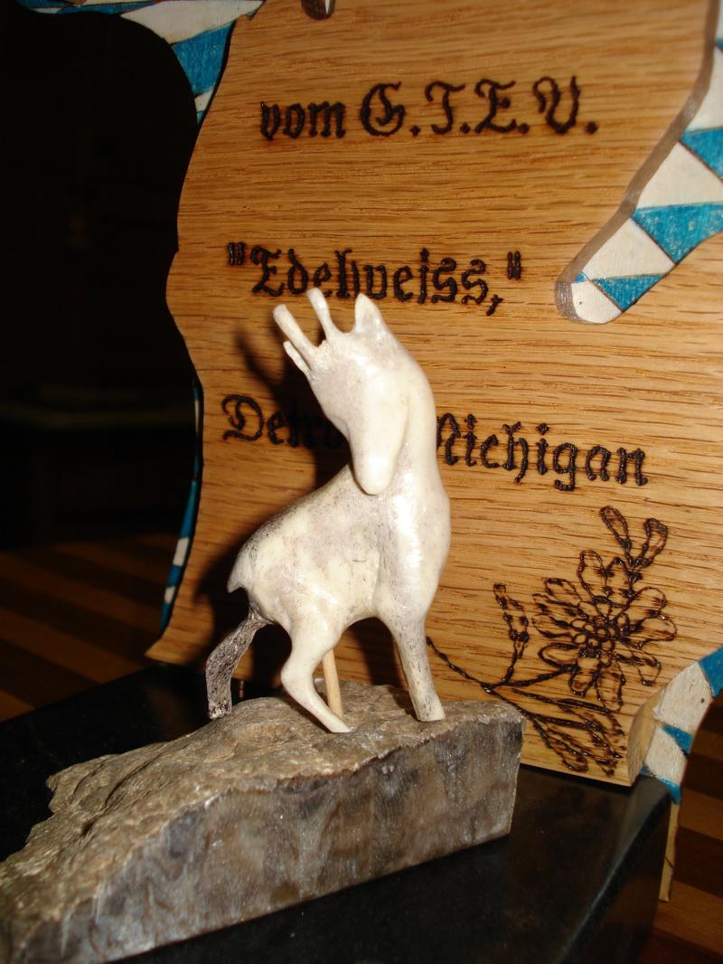 Carved Gams - Elk Antler