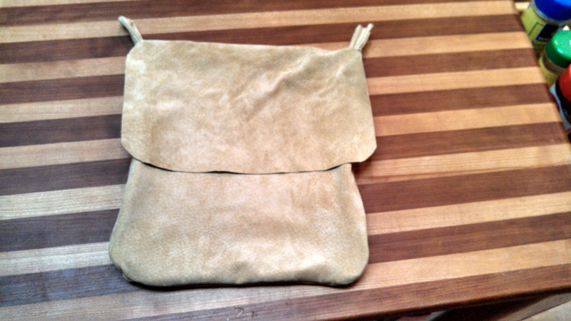 Larger leather pouch
