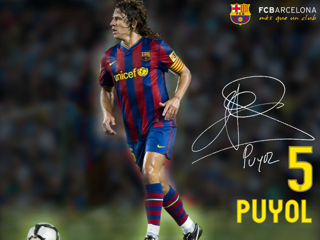 Puyol para un gol con su corazón (el escudo del Barça)