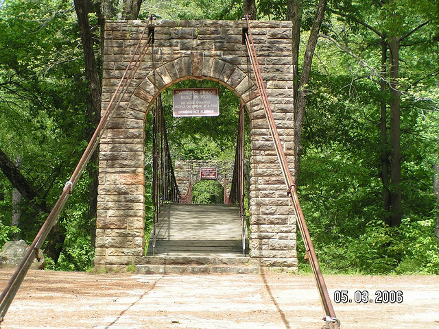 Entrance to Swinging Bridge