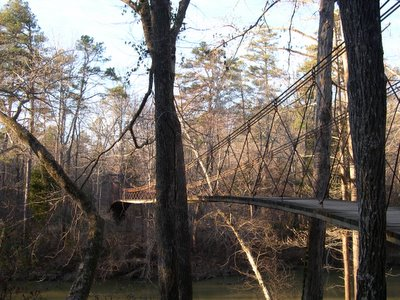 Swinging Bridge over Bear Creek