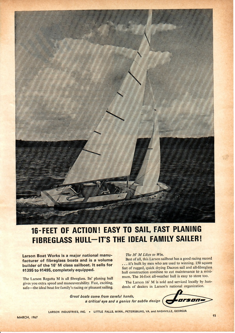 Larson made 2 sailboats