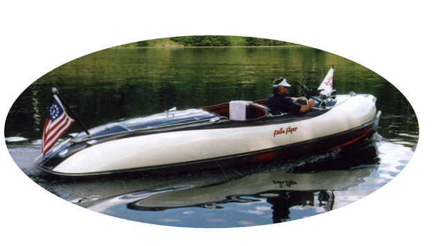 This is the First Fiberglass Boat