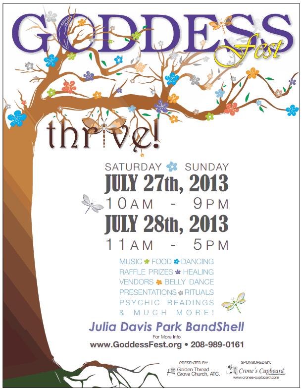 Goddess Fest 2013 Flyer
