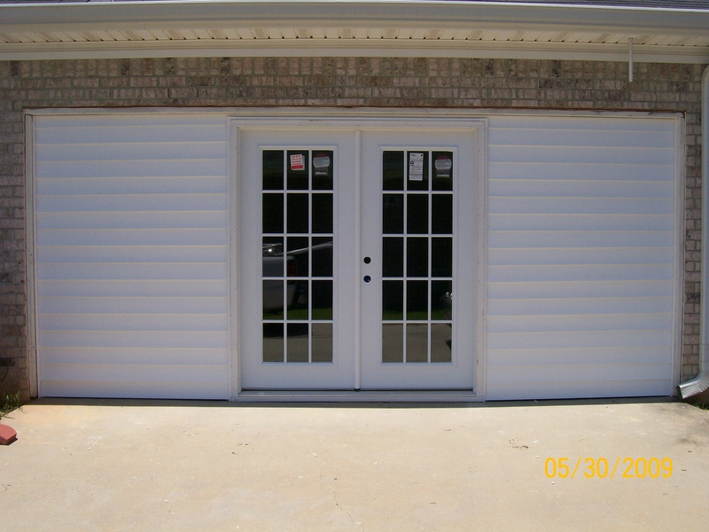 patio door for finished garage home design