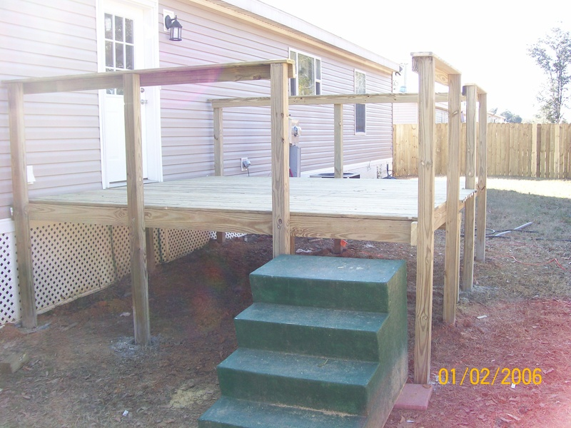 deck boards and hand rails started