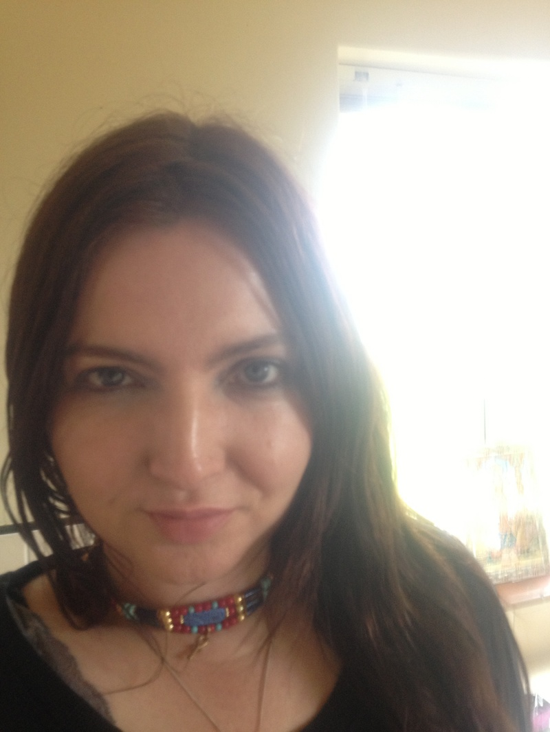 Me with ankh bead necklace made by a friend!