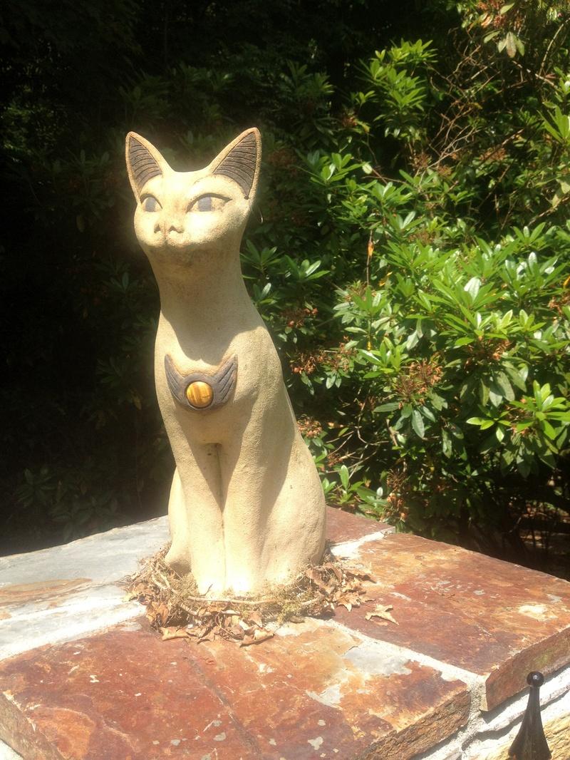 Bast cat at St Nectan's Glen.