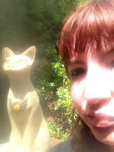 Me with Bast cat at St Nectan's Glen