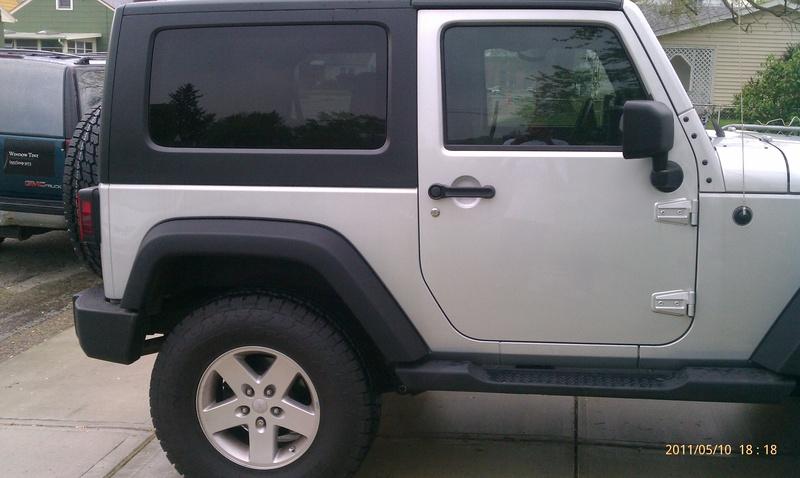 Jeep Wrangler Jk 2007 Present Window Tint Modification