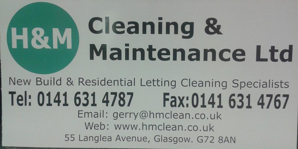H&M Cleaning & Maintenance advertising board