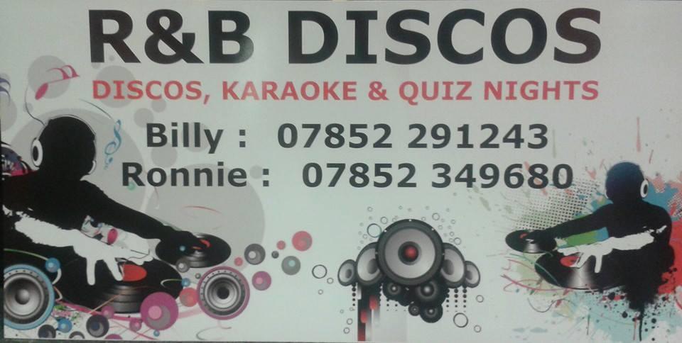 R&B Discos advertising board