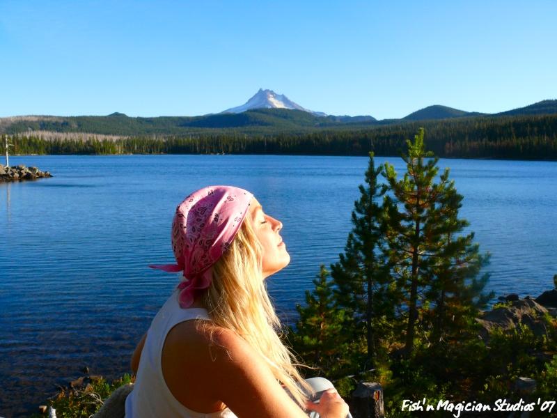 Sun Bathing Olallie Lake