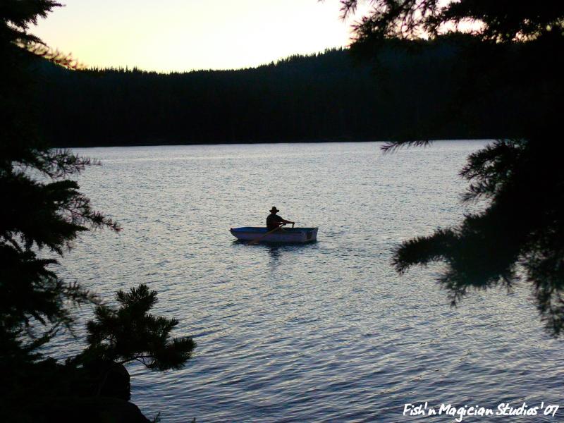 Evening Boat Ride - Olallie Lake